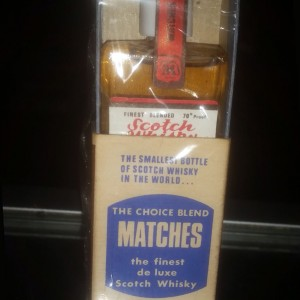 Matches Choice Blend - the Smallest Bottle of Whisky in the World